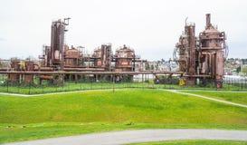 Verbazend Gasfabriekenpark in Seattle - SEATTLE/WASHINGTON - APRIL 11, 2017 Stock Foto