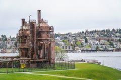 Verbazend Gasfabriekenpark in Seattle - SEATTLE/WASHINGTON - APRIL 11, 2017 Royalty-vrije Stock Afbeelding