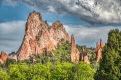 Verbazend gedetailleerd beeld bij Tuin van de Goden in Colorado Springs royalty-vrije stock foto