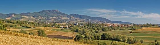 Verbazend groen natuurlijk landschap van berg Kalnik Royalty-vrije Stock Fotografie