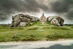 Verbazend huis in Bretagne Royalty-vrije Stock Afbeeldingen