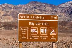 Verbazend Kunstenaarspalet bij het Nationale Park van de Doodsvallei in Californië Stock Fotografie