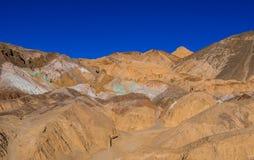 Verbazend Kunstenaarspalet bij het Nationale Park van de Doodsvallei in Californië Royalty-vrije Stock Afbeeldingen