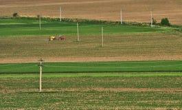 Verbazend landbouwlandschap in Macin-bergen Royalty-vrije Stock Afbeelding
