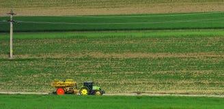 Verbazend landbouwlandschap in Macin-bergen Stock Afbeelding