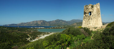 Verbazend landschap bij Strand Villasimius Royalty-vrije Stock Foto's