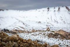 Verbazend landschap in de bergen van Libanon, dicht bij Syrië, het Midden-Oosten royalty-vrije stock fotografie