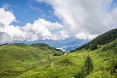 Verbazend landschap in Tirol stock afbeelding