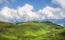 Verbazend landschap in Tirol stock fotografie