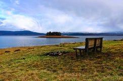 Verbazend landschap van Batak-dammeer, Bulgarije Royalty-vrije Stock Foto