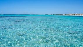 Verbazend landschap van het charmante strand S Trencs Het heeft de reputatie van Caraïbisch strand van Mallorca verdiend royalty-vrije stock foto