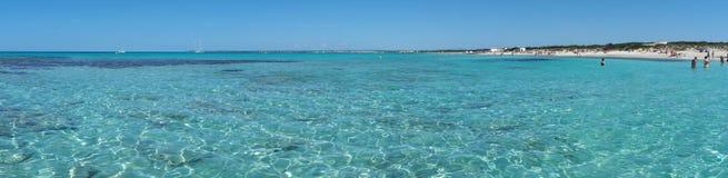 Verbazend landschap van het charmante strand S Trencs Het heeft de reputatie van Caraïbisch strand van Mallorca verdiend royalty-vrije stock fotografie