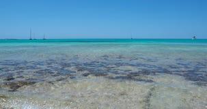 Verbazend landschap van het charmante strand S Trencs Het heeft de reputatie van Caraïbisch strand van Mallorca verdiend royalty-vrije stock afbeelding