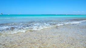 Verbazend landschap van het charmante strand S Trencs Het heeft de reputatie van Caraïbisch strand van Mallorca verdiend royalty-vrije stock foto's