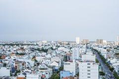 Verbazend landschap van Ho-Chi-Minh-Stad, Vietnam Royalty-vrije Stock Foto