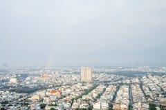 Verbazend landschap van Ho-Chi-Minh-Stad, Vietnam Royalty-vrije Stock Fotografie