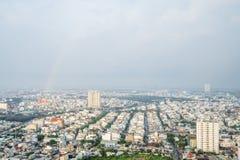 Verbazend landschap van Ho-Chi-Minh-Stad, Vietnam Stock Afbeeldingen