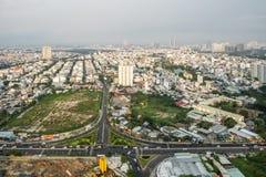 Verbazend landschap van Ho-Chi-Minh-Stad, Vietnam Royalty-vrije Stock Foto's