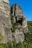 Verbazend landschap van Rotsenvorming dichtbij Meteora, Griekenland Stock Foto's
