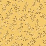 Verbazend leuk naadloos uitstekend geel bloemenpatroon Stock Foto's
