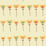 Verbazend leuk naadloos uitstekend kleurrijk bloemenpatroon Royalty-vrije Stock Afbeelding