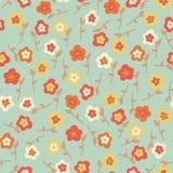 Verbazend leuk naadloos uitstekend kleurrijk bloemenpatroon Stock Afbeelding