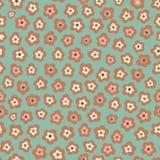 Verbazend leuk naadloos uitstekend kleurrijk bloemenpatroon Stock Foto