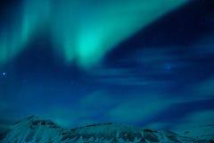 Verbazend Noordelijk licht Stock Afbeelding