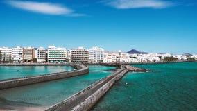 Verbazend oceaanlandschap op een vulkanisch Eiland Fuerteventura stock fotografie