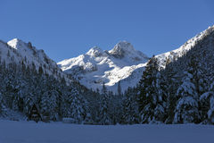 Verbazend panorama van Malyovitsa-piek, Rila-Berg stock afbeeldingen