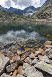 Verbazend Panorama van Musalenski-meren en Musala-piek, Rila-berg Stock Foto
