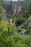 Verbazend Plitvice-Meren Nationaal Park, Kroatië Stock Afbeeldingen