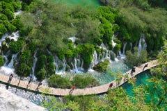 Verbazend Plitvice-Meren Nationaal Park, Kroatië Stock Fotografie