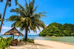 Verbazend strand, Filippijnen Stock Afbeeldingen