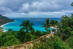 Verbazend toneel Caraïbisch tropisch landschap stock afbeelding