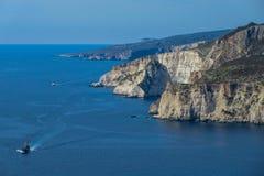 Verbazend vooruitzicht bij de kaap van Keri, Zakynthos, Griekenland royalty-vrije stock fotografie