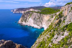 Verbazend vooruitzicht bij de kaap van Keri, Zakynthos, Griekenland royalty-vrije stock foto