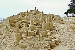 Verbazend zandkasteel op Sentosa royalty-vrije stock foto's