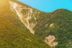 Verbazend zonnig berglandschap Stock Fotografie