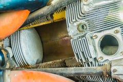 Verbazende aërobe straalmotor of geleide straalmotor, straal eng stock foto