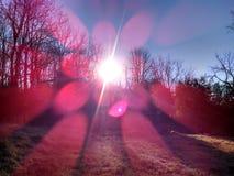 Verbazende Appalachian bergochtend stock afbeeldingen