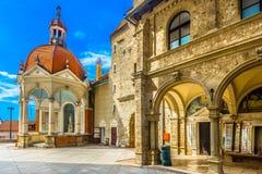 Verbazende architectuur in Kroatië, Marija Bistrica-heiligdom stock afbeelding