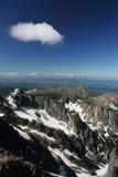 Verbazende bergmening (Hoge Tatra, Slowakije) stock foto