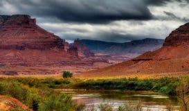 Verbazende de Riviervallei van Colorado stock foto's