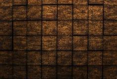 Verbazende gedetailleerde close-upmening van de donkere achtergrond van de de muurluxe van de bronskleur binnenlandse Stock Foto's