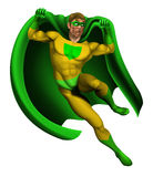 Verbazende Illustratie Superhero Stock Afbeelding
