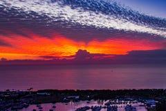 Verbazende kleuren in de zonsopgang stock fotografie