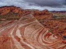 Verbazende kleuren en vorm van de rots van de Brandgolf Stock Afbeelding