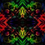 Verbazende kleurrijke die achtergrond van Scharlaken Macaw& x27 wordt gemaakt; s papegaaifea Royalty-vrije Stock Foto