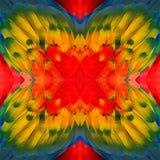 Verbazende kleurrijke die achtergrond van van Scharlaken Ara bird& x27 wordt gemaakt; s vleugel Royalty-vrije Stock Foto's